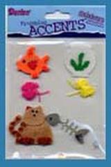 Accents 3D stickers cat