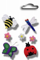 Accents 3D stickers bugs