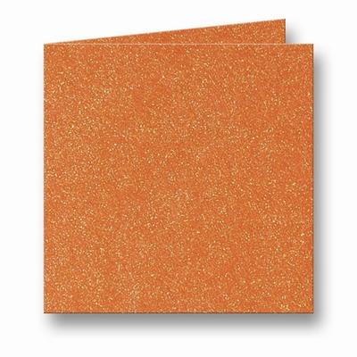 09 Metallic Dubbele kaart 15x15 CM Orange Glow per stuk