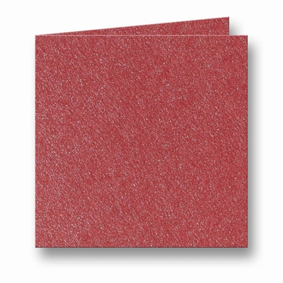 10 Metallic Dubbele kaart 15x15 CM Rosso per stuk