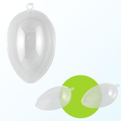 Plastic ei 2-delig 8 cm