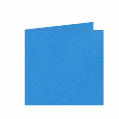 06 Dubbele kaart 15x15 CM Roma Koningsblauw per stuk