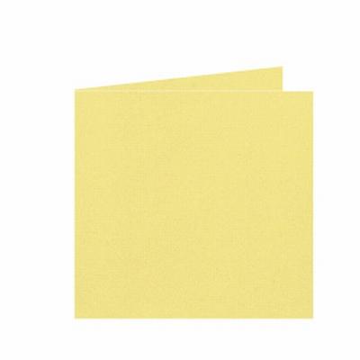 08 Dubbele kaart 15x15 CM Roma Kanariegeel per stuk