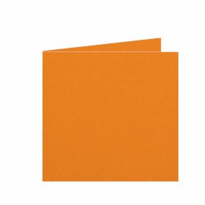11 Dubbele kaart 15x15 CM Roma Feloranje per stuk