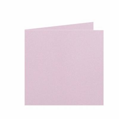 15 Dubbele kaart 15x15 CM Roma Lichtroze per stuk
