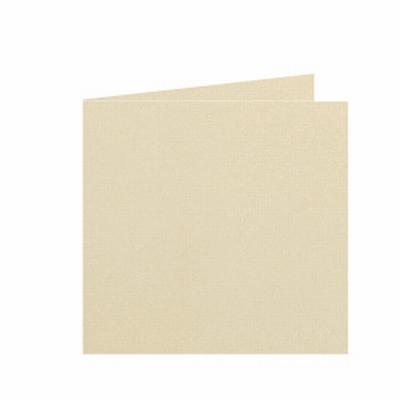 21 Dubbele kaart 15x15 CM Roma Chamois per stuk