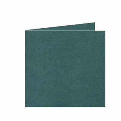 31 Dubbele kaart 15x15 CM Roma Donkergroen per stuk