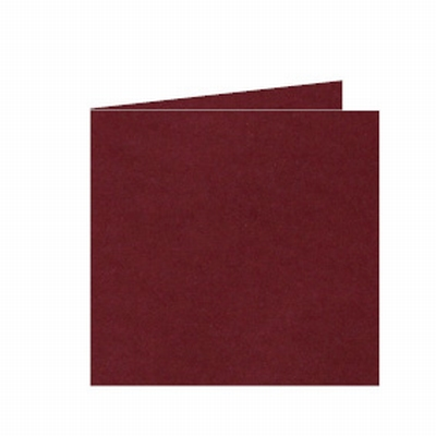 32 Dubbele kaart 15x15 CM Roma Donkerrood per stuk