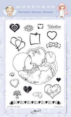 Clearstamp Morehead,  Joy for You Valentine, 10x15 cm