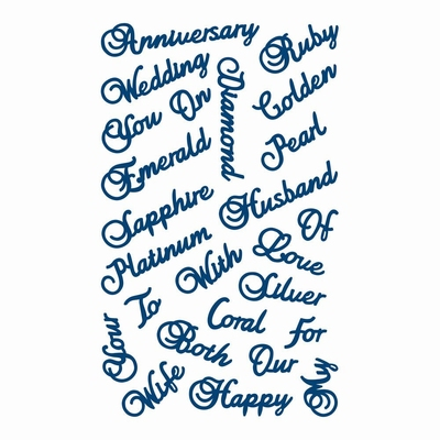 Tattered Lace Anniversary Words (ACD362)