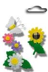 Accents 3D stickers garden