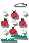 Accents 3D stickers ladybug