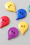 Buttons ass. 1 pk. balloons