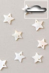 Buttons ass. 1 pk. a 10 st. natural star river shell dangles