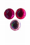 Rhinestones rond 15mm 20 roze assortiment