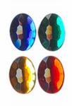 Rhinestones ovaal 18x25 mm 8x donker assortiment