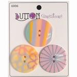 Button Sensations 3x Pale 3,4 cm