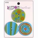 Button Sensations 3x Citrus 3,4 cm