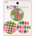 Button Sensations 3x Preppy 3,4 cm