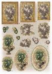 Glitter Decoupage bloemen nr.1