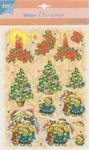 Glitter Decoupage kerst nr.3