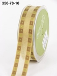 OLIVE GREEN/BROWN Solid Band Edge / Square Print 22 mm