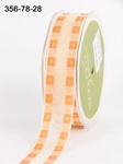 ORANGE/YELLOW Solid Band Edge / Square Print 22 mm