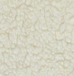 Teddypluche gekruld katoen, 100 x 140 cm, ecru