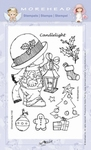 Clearstamp Morehead,  Kerst Candlelight, 10x15 cm