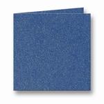 13 Metallic Dubbele kaart 15x15 CM Dark Blue per stuk