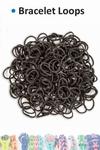 Bracelet loops x300 + S-clips x12 black