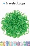 Bracelet loops x300 + S-clips x12 green