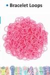 Bracelet loops x300 + S-clips x12 pink
