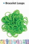Bracelet loops x300 + S-clips x12 kelly green
