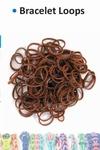 Bracelet loops x300 + S-clips x12 brown