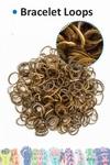 Bracelet loops x300 + S-clips x12 gold metallic