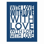 Tattered Lace With Love Plaque (ACD039)