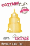 CottageCutz Birthday Cake Tag (Elites) (CCE-154)