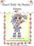 Little Miss Cupid Clear Rubber Stamp