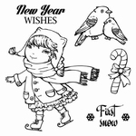 Set Of Clear Stamps 10,5x10,5 cm Once Upon A Winter 1