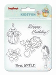 Set Of Clear Stamps 10,5 x 10,5 cm Kids'Fun