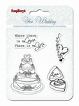Set Of Clear Stamps 10,5 x 10,5 cm Wedding