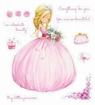 Set Of Clear Stamps 10x11 cm Little Princess