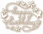 Specialty die - Birthday